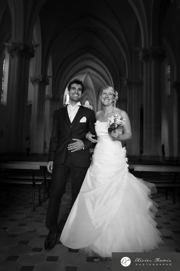 photo noir et blanc de mariage à valence
